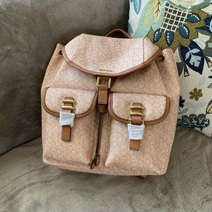 Calvin Klein monogram backpack purse